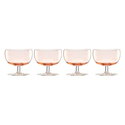 "Lenox ""Valencia"" Set of 4 Peach Cocktail Glasses"
