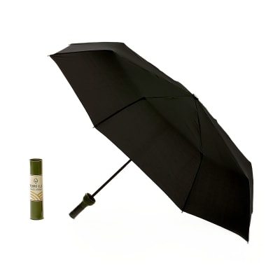 Green-Labeled Wine Bottle Umbrella