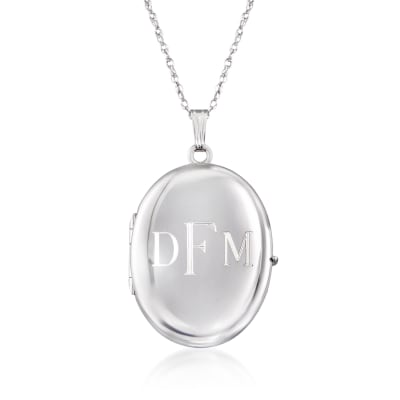 Sterling Silver Personalized Four-Photo Oval Locket Necklace. 20""