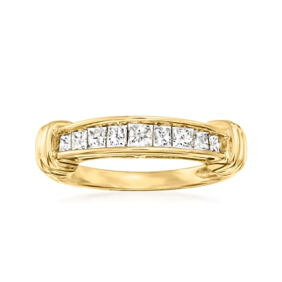 C. 1995 Vintage .50 ct. t.w. Channel-Set Diamond Ring in 10kt Gold
