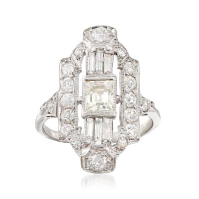 C. 1960 Vintage 1.87 ct. t.w. Diamond Dinner Ring in Platinum