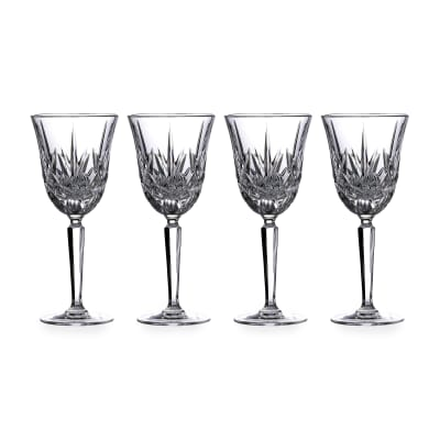 "Marquis by Waterford Crystal ""Maxwell"" Set of 4 Wine Glasses from Italy"