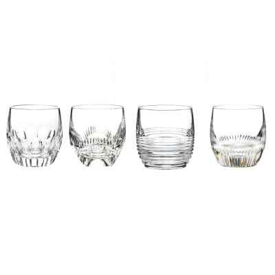 "Waterford Crystal ""Mixology Mixed"" Set of 4 Tumbler Glasses"