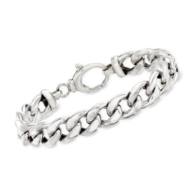 Sterling Silver Curb-Link Bracelet