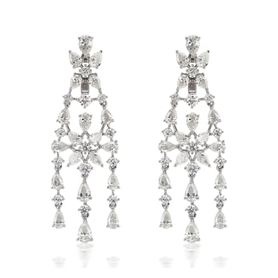 7.75 ct. t.w. Diamond Chandelier Earrings in 18kt White Gold