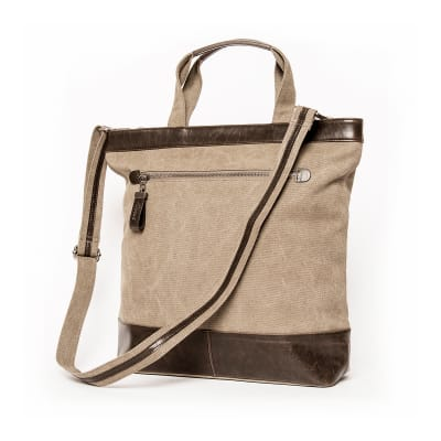 "Brouk & Co. ""Excursion"" Khaki Waxed Canvas Tote Bag"