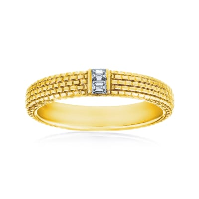 Men's .12 ct. t.w. Diamond Wedding Ring in 14kt Yellow Gold