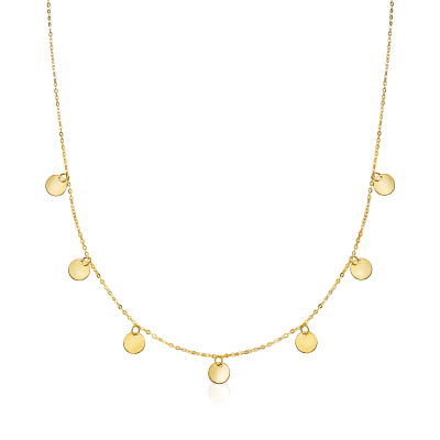 Italian 14kt Yellow Gold Multi-Circle Necklace