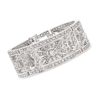 C. 1950 Vintage 8.75 ct. t.w. Diamond Bracelet in Platinum