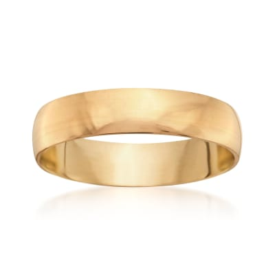 Men's 5mm 14kt Yellow Gold Wedding Ring