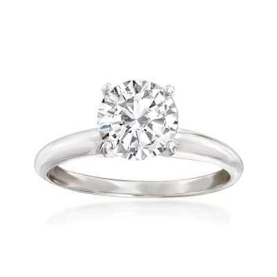 1.50 Carat Diamond Solitaire Ring in Platinum
