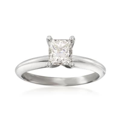 .90 Carat Certified Diamond Solitaire Ring in Platinum