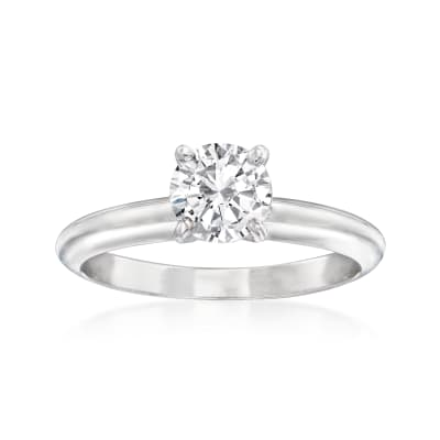 .90 Carat Certified Diamond Solitaire Ring in 14kt White Gold