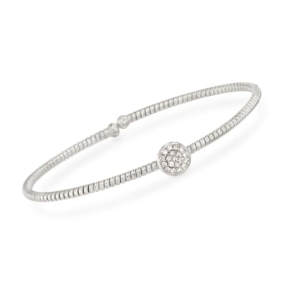 .15 ct. t.w. Diamond Circle Bracelet in 18kt White Gold