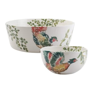 "Vietri ""Fauna"" Pheasants Serving Bowl from Italy"