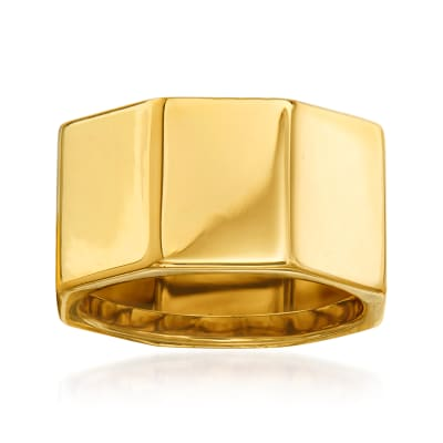 Italian 14kt Yellow Gold Geometric Ring
