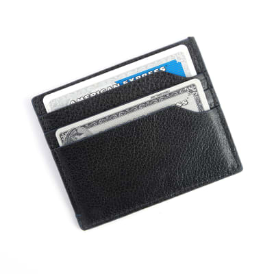 Royce Blue and Black Leather Wallet