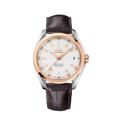 Omega Seamaster Aqua Terra Men's 42mm Automatic Watch in Stainless Steel and 18kt Rose Gold