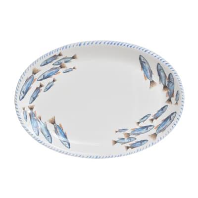 "Abbiamo Tutto ""School of Fish"" Ceramic Serving Platter from Italy"