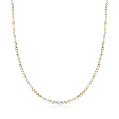5.00 ct. t.w. Diamond Tennis Necklace in 14kt Yellow Gold