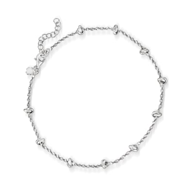 Italian Sterling Silver Knot Anklet