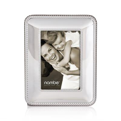 "Nambe ""Braid"" Chrome Plate Frame"