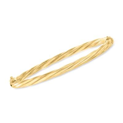 Italian 18kt Gold Over Sterling Twisted Bangle Bracelet