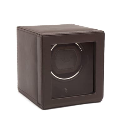 """Cub Winder"" Brown Single Watch Winder with Cover by Wolf Designs"