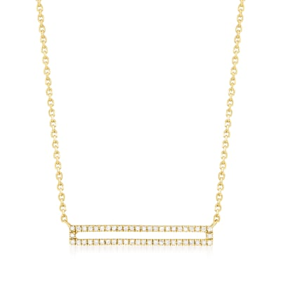 .15 ct. t.w. Diamond Open-Bar Necklace in 18kt Gold Over Sterling