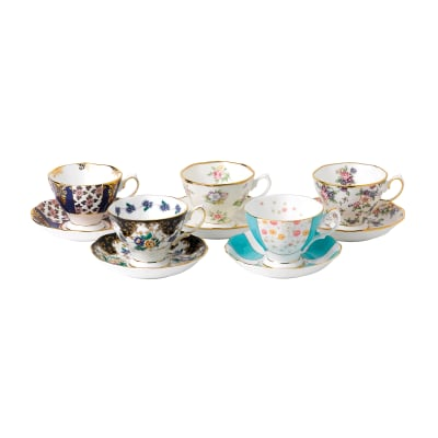 "Royal Albert ""100 Years: 1900-1940"" 10-pc. Teacup and Saucer Set"