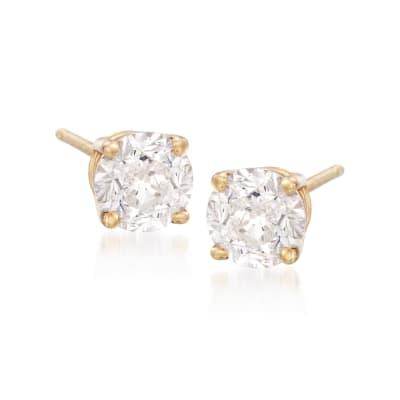 6.00 ct. t.w. CZ Stud Earrings in 14kt Yellow Gold
