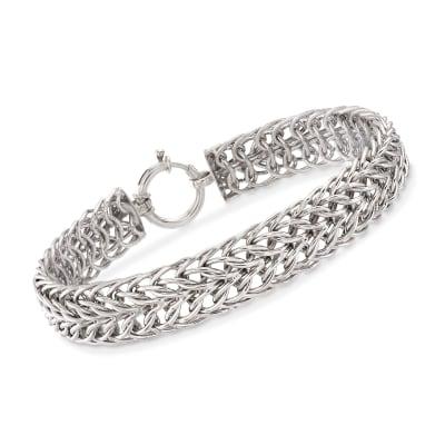 Sterling Silver Sedusa-Link Bracelet