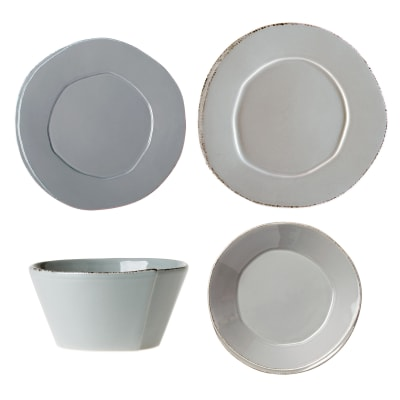 "Vietri ""Lastra"" Gray Dinnerware from Italy"