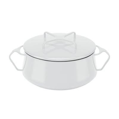"Dansk ""Kobenstyle"" White Small Casserole Pot with Lid"