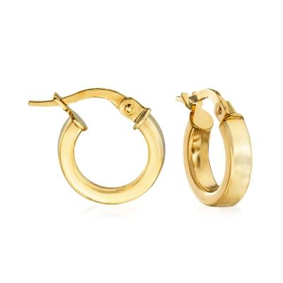 Italian 18kt Yellow Gold Hoop Earrings