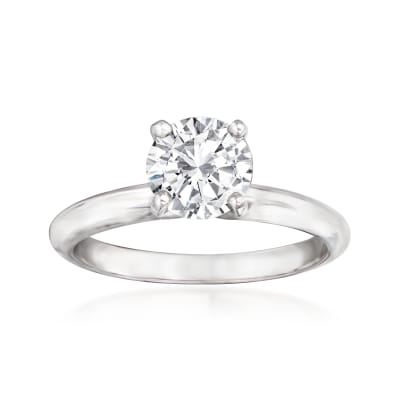 1.20 Carat Certified Diamond Solitaire Ring in 14kt White Gold