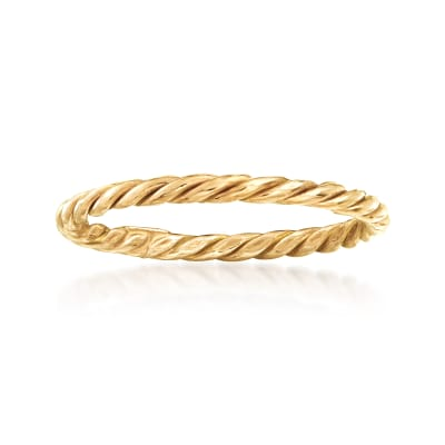 18kt Yellow Gold Rope Ring