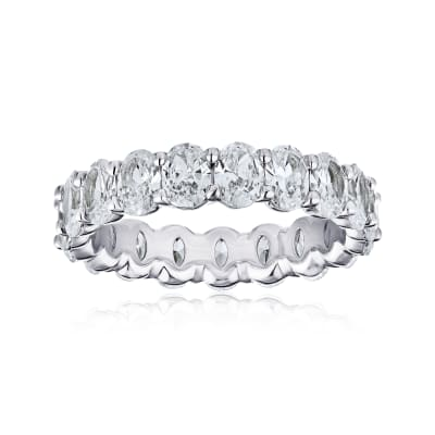 5.05 ct. t.w. Diamond Eternity Wedding Band in Platinum