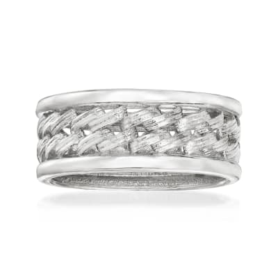 Italian Sterling Silver Link-Style Ring