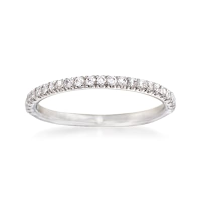Gabriel Designs .24 ct. t.w. Diamond Wedding Ring in 14kt White Gold