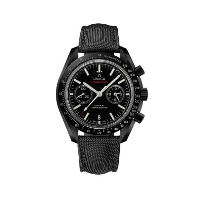 Omega Speedmaster Dark Side of the Moon 44.25mm Black Ceramic Watch with Black Nylon Strap