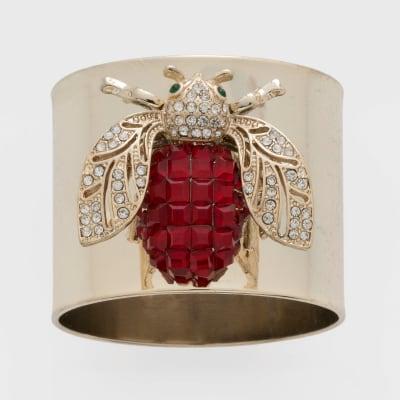 Joanna Buchanan Set of 2 Ruby Sparkle Bee Napkin Rings