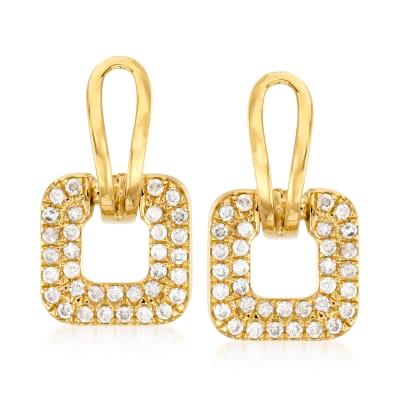 1.00 ct. t.w. Diamond Drop Earrings in 18kt Gold Over Sterling