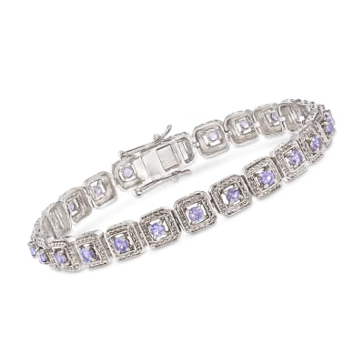 2.20 ct. t.w. Tanzanite Bracelet in Sterling Silver