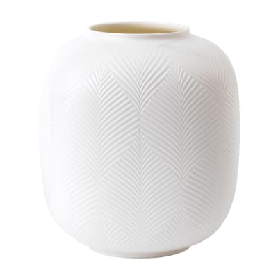 """Wedgwood """"White Folia"""" Rounded Vase"""