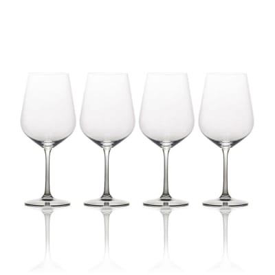 "Mikasa ""Gianna"" Set of 4 Ombre Smoke White Wine Glass"
