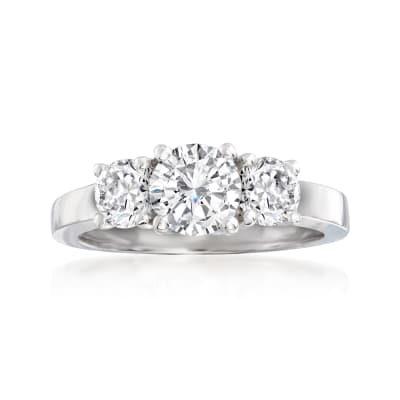 2.00 ct. t.w. Diamond Three-Stone Ring in 14kt White Gold