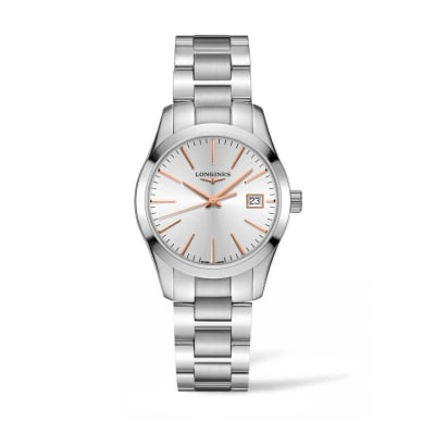Longines Conquest Classic Women's 34mm  Stainless Steel Watch