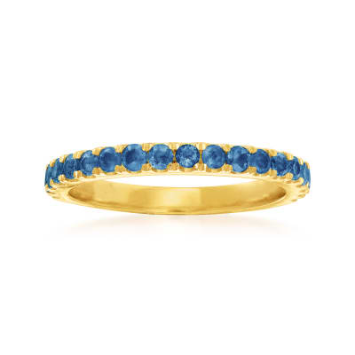 .80 ct. t.w. Sapphire Ring in 18kt Gold Over Sterling