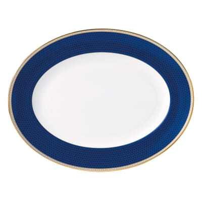 """Wedgwood """"Hibiscus"""" Oval Platter"""